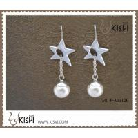 China OEM / ODM 925 sterling silver gemstone earrings with immitation pearl W-AS1126 wholesale