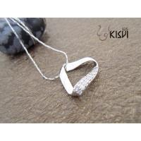 China Competitive Price Fashion Jewelry Sterling Silver Gemstone Pendant with Zircon W-VB1062 wholesale