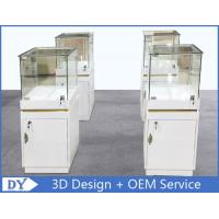 China MDF Jewellery Display Cabinets With Lock OEM 450 X 450 X 1250MM wholesale