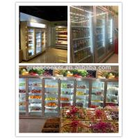 Quality Convenience Store Glass Door Freezer For Fruit 2 - 8 Degree Danfoss Compressor for sale