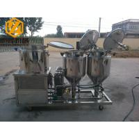 China 2 - 4 Vessels Home Brewing Equipment Flexible / Steel Auger Malt Milling Unit wholesale