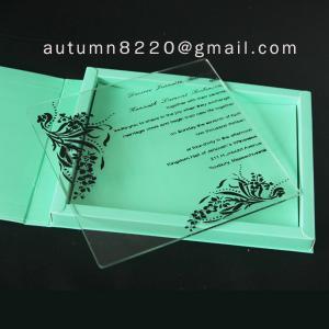 China wedding invitation plastic wholesale