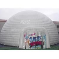 China White Huge Inflatable Event Tent , Double Stitching Waterproof Inflatable Igloo Tent wholesale