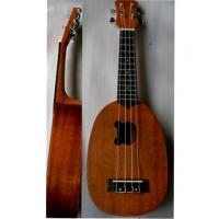 China 21 inch Elliptical Sapele Hawaii Guitar Ukulele With Laser Printed Logo AGUL25 wholesale