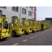 Quality Vertical Trailer Mounted Man Lift , Single Mast Trailer Boom Lift For Window for sale