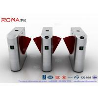 China Acrylic Flap Waist Height Turnstile Security Systems Optical Sensor Rs485 Communications Port wholesale
