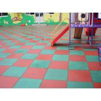 China Red / Green Color Rubber Playground Mats / Gym EPDM Flooring on sale