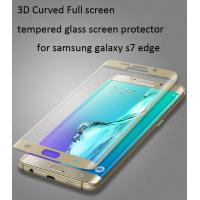 China Samsung Galaxy S6 Edge  tempered glass screen protector Edge to Edge 3D full coverage 0.33mm ultrathin Scratch-Resistant wholesale