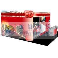 China 4D movie theater with movie poster , advertisement cinema cabin wholesale
