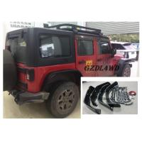 China Jeep Wrangler Eyebrow 4 Doors , JK Crusher Wheel Arch Flares With Lights wholesale