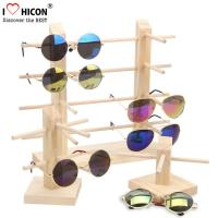 China Countertop Colorful Waterproof Acrylic / Wood Sunglasses Display Rack wholesale