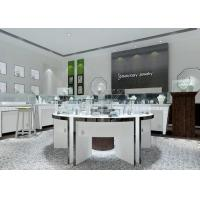 China Modern White Color Round Circle Jewellery Display Counter / Retail Display Cases wholesale