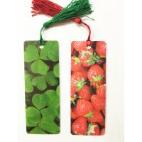 Quality Eco-friendly Lenticular 3D Bookmarks PET Material With Tassel Customized for sale