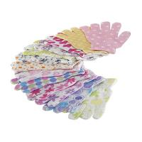 China House Exfoliating Bath Mitt Body Wash Gloves Wave Pattern Printed wholesale