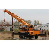 China Truck Mounted Hydraulic Crane With Auger for Drilling Hole , Mobile Truck Crane 2 - 8 Ton wholesale