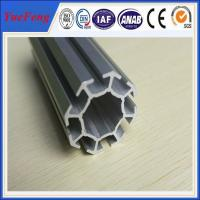 China 6063 t5 aluminum profile for exhibition booth, easy to assemble aluminium tubes wholesale