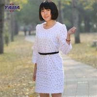China Ladies long sleeves embroidery dress casual wear latest ladies office dresses women party wholesale