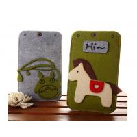 China Beautifull good quality felt custom waterproof cell phone case wholesale on sale