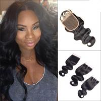 Buy cheap No Tangle Body Wave Lace Part Closure Brazilian Virgin Hair For White Girl from wholesalers