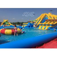 China Customized Design Inflatable Amusement Park With Big Pool And Slide For Kids wholesale