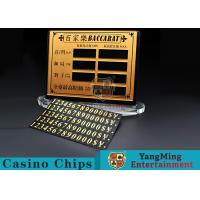 China Baccarat Poker Table Pure Copper Material  Entertainment Bet Card Casino Table Limit Sign With Magnet Sticking wholesale