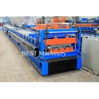 China Color Steel High Srength Metal Deck Floor Roll Forming Machine For Closed Floor Decking wholesale