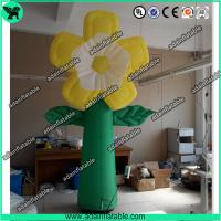 China Summer Holiday Event Party Decoration Inflatable Yellow Flower With LED Light wholesale