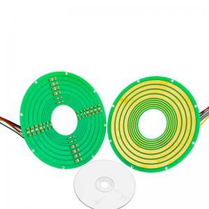 China 8 Circuits Pancake Slip Ring Transmitting 12A Current and 100M Ethernet Signal wholesale