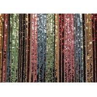 China Custom Made Stretch Colorful Sequin Fabric Rainbow Type Smooth Surface on sale