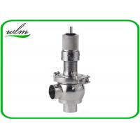 China Butt Weld Sanitary Pressure Relief Valve with Spring Return Configuration , Slight Opening wholesale