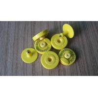 Buy cheap 134.2kHz RFID Ear Tag Non - Polluting Plastic , Anti Soaked Custom Ear Tags For Cattle product