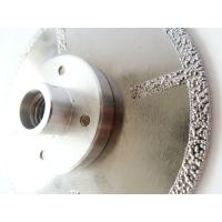 China Fast Cutting Vacuum Brazed Diamond Blades With Flange , Diamond Saw Blades For Stone wholesale