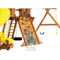 Quality Anti-UV Kids Outdoor Playsets , Plastic Holds for Climbing Wall with Metal for sale