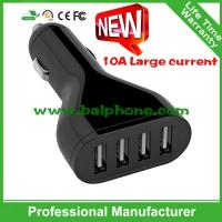 China Quick charger 2.0 5V10A 4USB Quick car charger USB charger wholesale