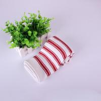 China Home Textile  Azo - Free Strip Dish Towels 40*40cm , Red And White Color wholesale