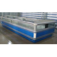 China Auto Defrost Double Supermarket Island Freezer digital Elitech With Glass Covers wholesale