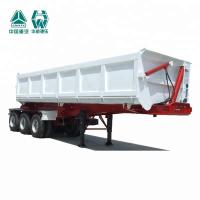 China Mining Side Tipper Trailer , High Strength Tri Axle Tipping Trailer wholesale