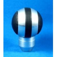 Quality Black + Sliver Aluminum Racing Auto Gear Knob For Man , Round Shift Knob for sale