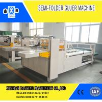 China Semi Automatic Paper Folding Machine / Gluing Machine With 260mm Min Feeding Size on sale