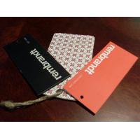 China Printed paper hangtags for garment on sale