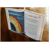 Quality Light Weight Acrylic Menu Holder , Clear Acrylic Cookbook Holder With No for sale