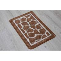 China Double Layer Outdoor Door Mats Fabric Stick Technics With Irregular Pattern wholesale