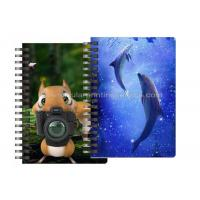 China Custom Animal Design 3D Lenticular Notebook For Kids Cute Souvenir Gift Stationery wholesale