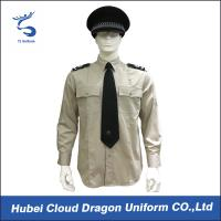 China Lightweight Security Guard Shirts Long Sleeves With Adjustable Cuffs , Logo Printed wholesale