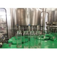 China Small Glass Bottle Filling Machine For Fruit Pulp Juice / Flavored Water / Coconut Milk 2000BPH wholesale