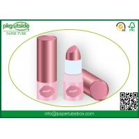 China Cosmetics Round Paper Lipstick Tubes Canister 100% Eco Kraft For Lip Balm wholesale