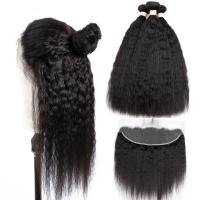 China Yaki Straight Cambodian Virgin Hair Extensions Pure Swiss Lace 13x4 For Girl wholesale