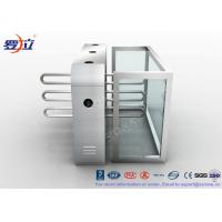 Quality Fingerprint Reader Waist Height Turnstiles Stainless Steel Turnstyle Gate For Access Control for sale