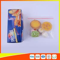 PE Transparent Plastic Snack Bags With Zipper , Reusable Snack And Sandwich Bags