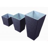 Quality outdoor furniture wicker flower pot-3003 for sale